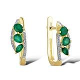 Серьги из золота с изумрудами и бриллиантами Беатриче