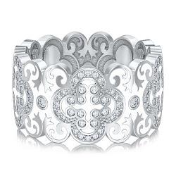 Обручальное кольцо из белого золота Калейдоскоп Любви: В ожидании Чуда 000010740