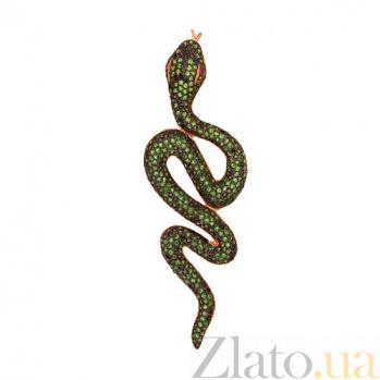 Подвеска Скорпиа из красного золота с циркониями VLT--ТТ3316-2