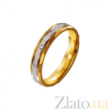 Золотое обручальное кольцо с фианитами Блестящий путь TRF--4421642