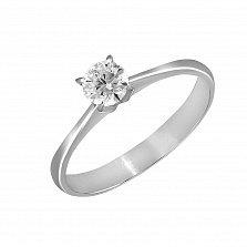 Кольцо из белого золота Нирвана с бриллиантом
