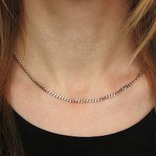 Серебряная цепочка Дантин в плетении гурме, 3мм