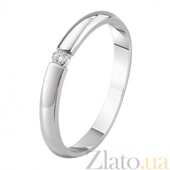 Кольцо из белого золота с бриллиантом Преданность KBL--К1145/бел/брил