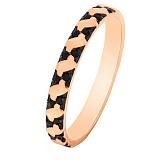 Золотое кольцо Арианта с черными фианитами