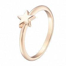 Кольцо Звездочка в желтом золоте