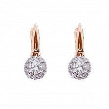 Золотые серьги Мадали с бриллиантами