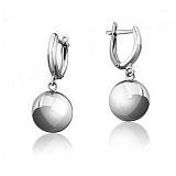 Серебряные серьги Глянцевый шар 10мм