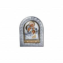 Серебряная икона Святое Семейство с позолотой