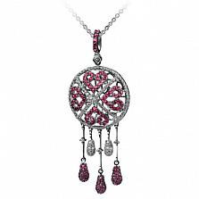 Золотой подвес с рубинами и бриллиантами Шахерезада