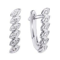 Серебряные серьги Тришна с бриллиантами