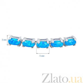 Серебряный браслет с голубыми опалами Васильковое поле AQA--B00067Op