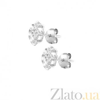 Серебряные сережки-пуссеты Линди SLX--С2/383