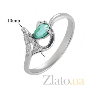 Серебряное кольцо с изумрудом  Бесконечность 1841/9 изум