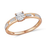 Кольцо из красного золота с бриллиантами Орнелла