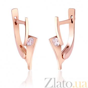 Золотые серьги с бриллиантами Беверли EDM--С7491