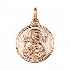 Золотая ладанка Божья Матерь с ангелами