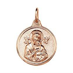 Золотая ладанка Божья Матерь с ангелами 000046096