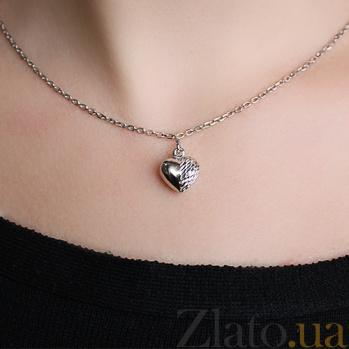Серебряная подвеска Большое сердце LEL--62049