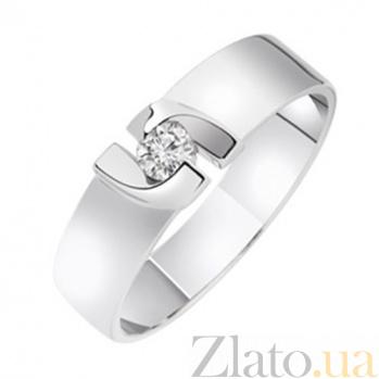 Золотое обручальное кольцо с бриллиантом Симона KBL--К1715/бел/брил