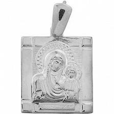 Серебряная ладанка Богородица с Сыном