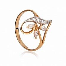 Золотое кольцо с цирконием Эльвира