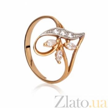 Золотое кольцо с цирконием Эльвира 000030588