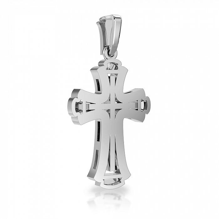 Крестик из белого золота Вера с бриллиантами VLA--33319