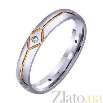 Золотое обручальное кольцо Арифметика любви с фианитами TRF--4221423