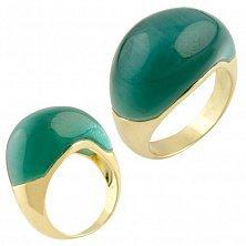 Серебряное кольцо Амарантос с зеленым кошачьим глазом
