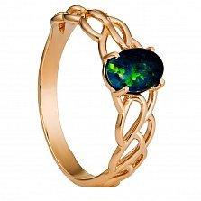 Золотое кольцо София с опалом