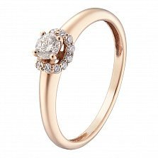 Золотое кольцо Сусанна с бриллиантами