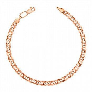 Золотой браслет в свободном плетении арабский бисмарк, 3мм 000056962