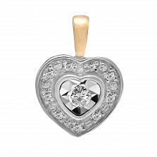 Кулон из золота с бриллиантами Верность