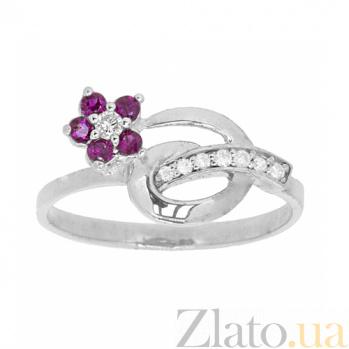 Серебряное кольцо с бриллиантами и рубинами Сильва ZMX--RDR-6488-Ag_K