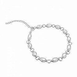 Серебряный браслет с прозрачным цирконием 000052219