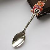 Серебряная чайная ложка Мишутка с сердцем