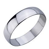 Серебряное обручальное кольцо Классика