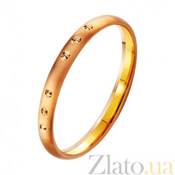 Золотое обручальное кольцо Оригинальность TRF--411902