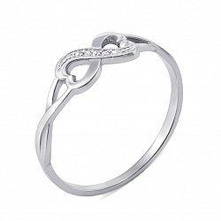 Кольцо из белого золота с бриллиантами и родированием 000134550