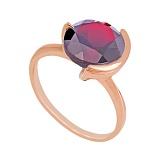 Золотое кольцо с гранатом Клэр