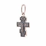 Золотой крестик Божественное Бдение с чернением