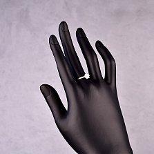 Серебряное кольцо Шамилен с фианитом