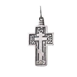 Серебряный крест Защита с молитвой на тыльной стороне основы 000088085