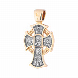 Крестик из серебра с позолотой Иконостас