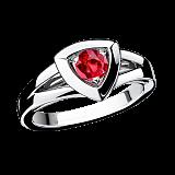 Рубиновое кольцо в белом золоте Dream & Love