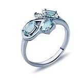 Серебряное кольцо Валерия с топазами