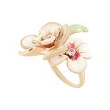 Серебряное кольцо с фианитами Жасмин
