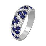 Золотое кольцо с сапфирами и бриллиантами Роксана