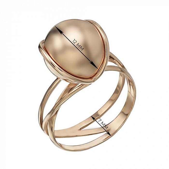 Золотое кольцо Геометрия стиля в красном цвете  TNG--300339