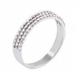 Кольцо в белом золоте с брилиантами 000117571